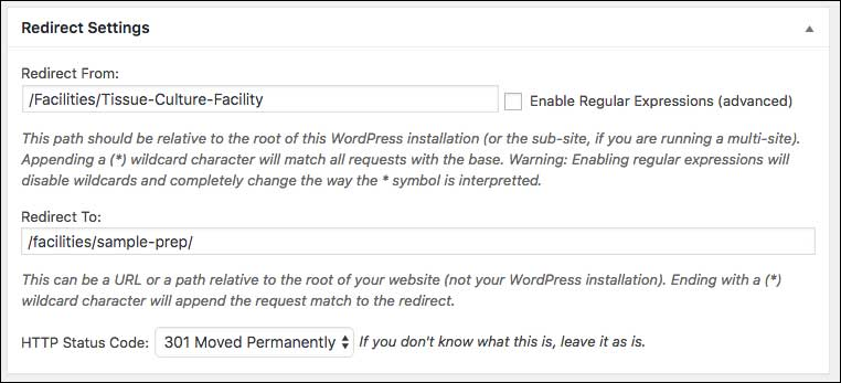 Setting Redirects When Replacing a Site - WashU Web Theme
