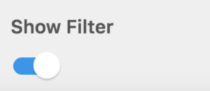Screenshot of PPI: Show Filter