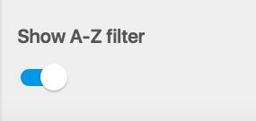 Screenshot of A-Z Filter